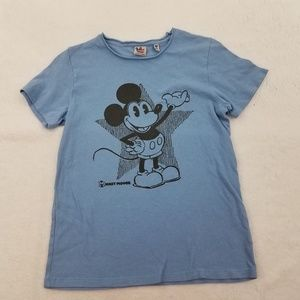 Junk Food Disney Mickey Mouse Kids Tee Blue Short